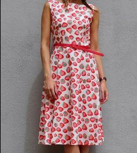 🆕🎁White red strawberry dress